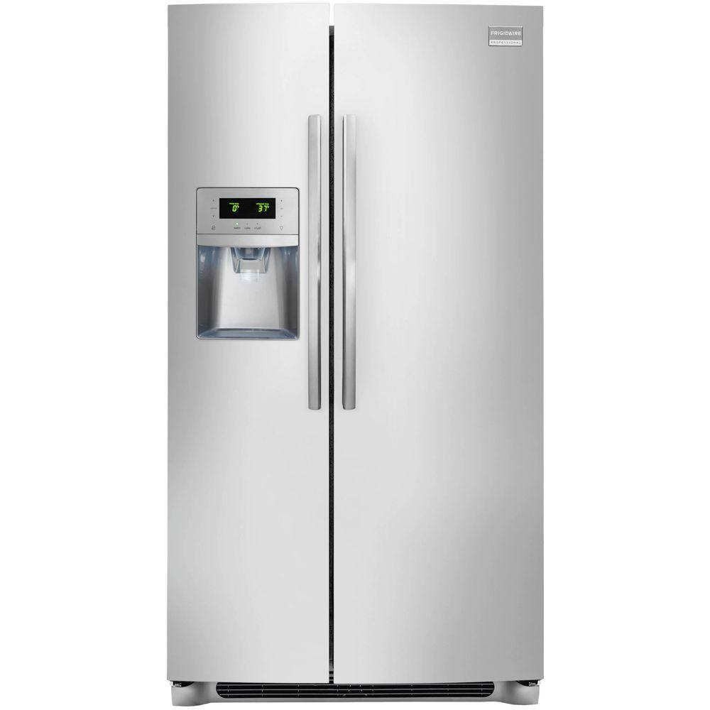 Frigidaire Professional 22.20 cu. ft. Side by Side Refrigerator in Stainless Steel, ENERGY STAR
