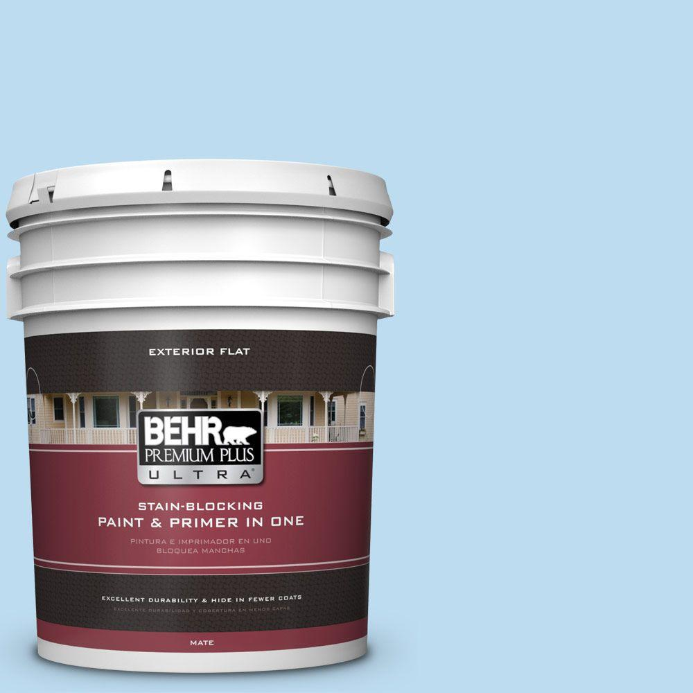 BEHR Premium Plus Ultra 5-gal. #550A-2 Tropical Pool Flat Exterior Paint