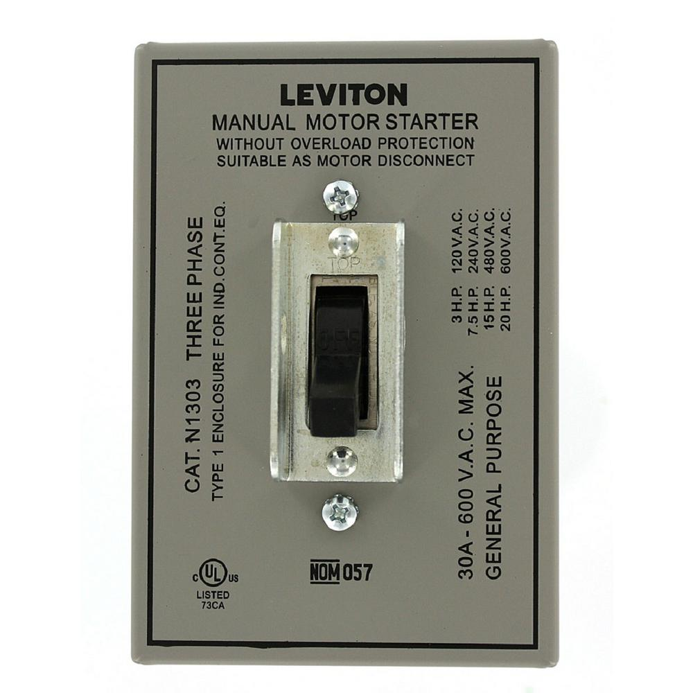 30 Amp 600-Volt Industrial Grade Toggle In Type 1 Enclosure Double