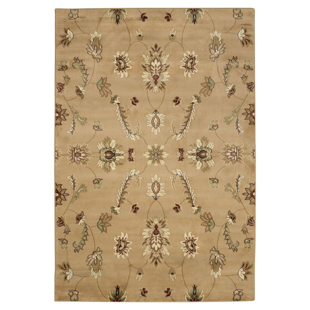 Lavish Home Flowers Infinity Gold 5 ft. x 7 ft. 3 in. Area Rug-DISCONTINUED