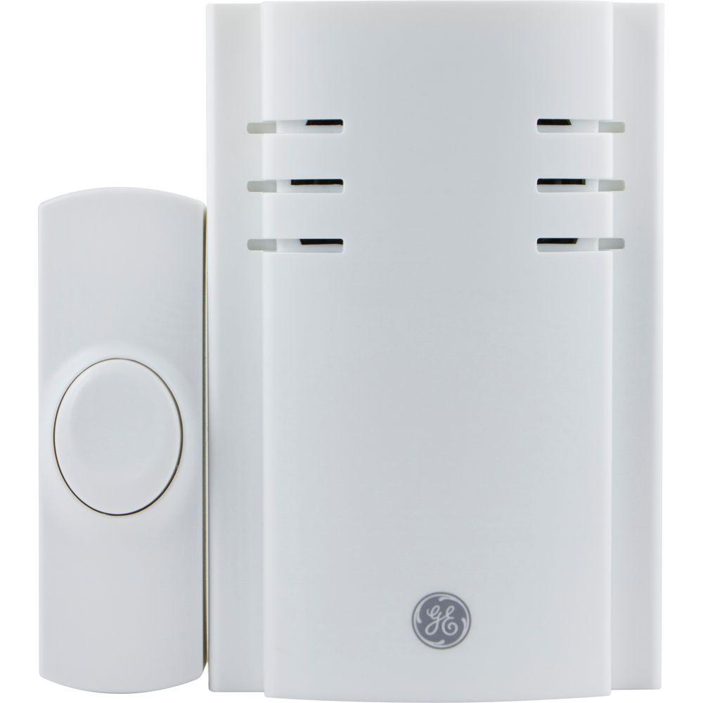 GE Plug-In Chime with 2 Melodies and 1 Push Button-19298 -