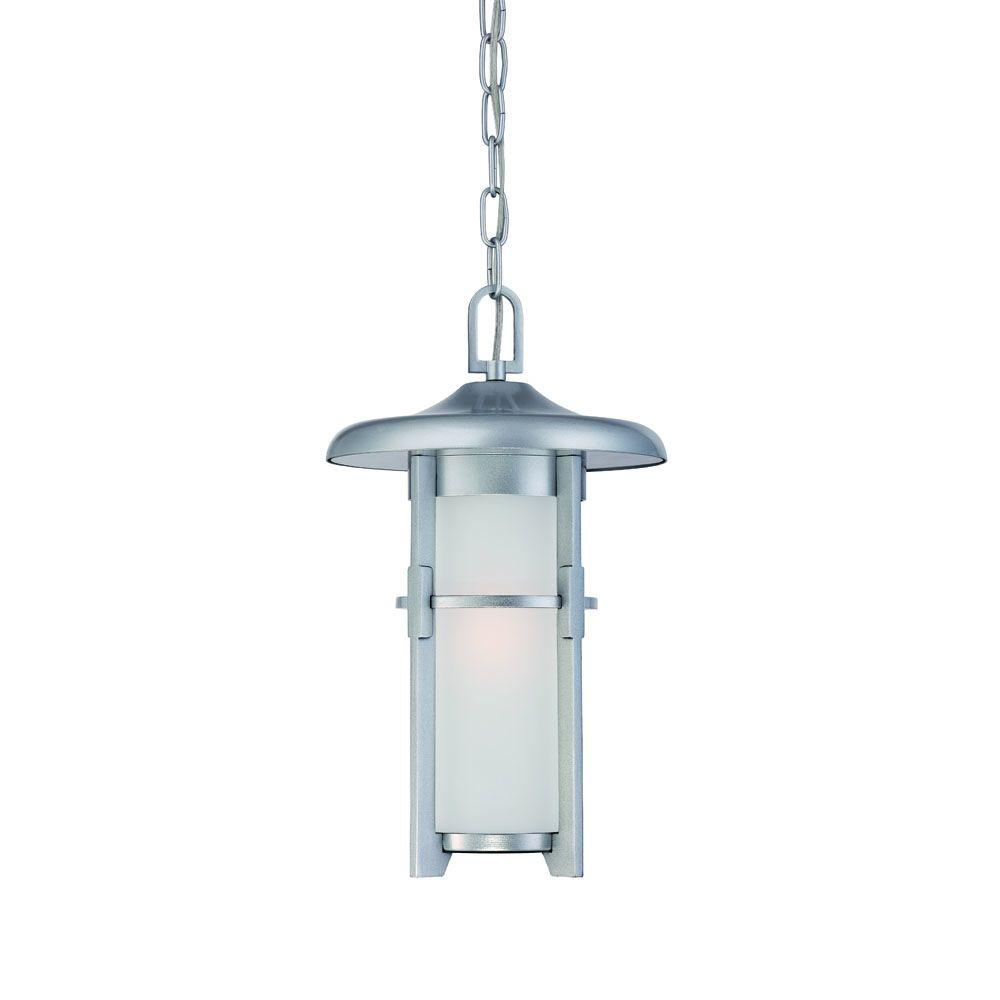 Acclaim Lighting Luma Collection Hanging Outdoor Brushed Silver Light Fixture