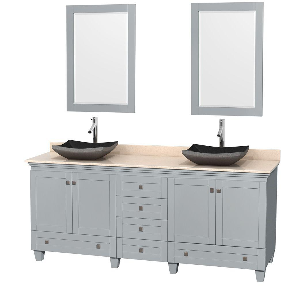 Wyndham Collection Acclaim 80 in. W x 22 in. D Vanity