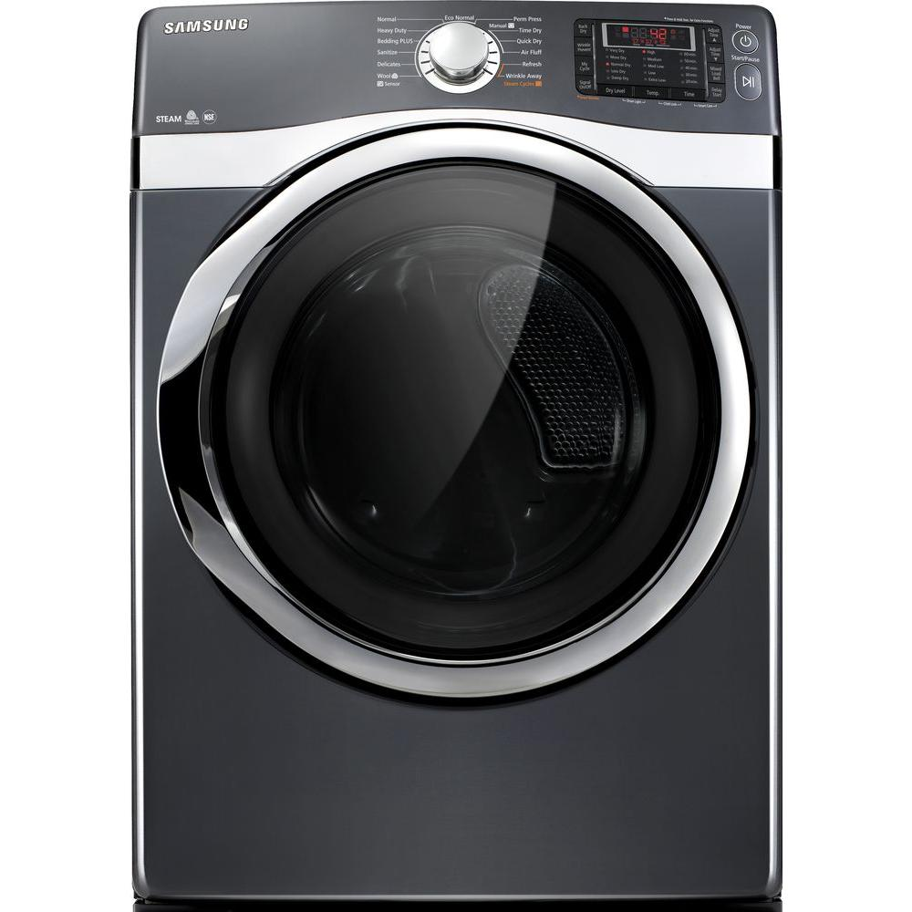 Samsung 7.5 cu. ft. Electric Dryer with Steam in Onyx-DISCONTINUED