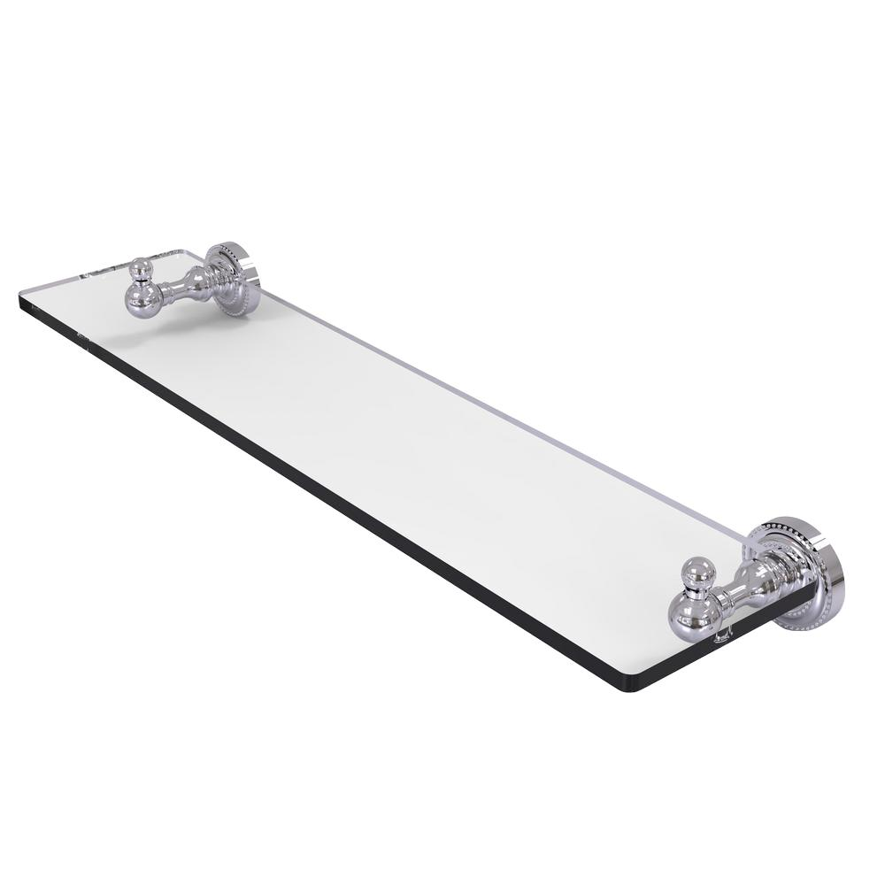Dottingham Collection 22 in. Glass Vanity Shelf with Beveled Edges in