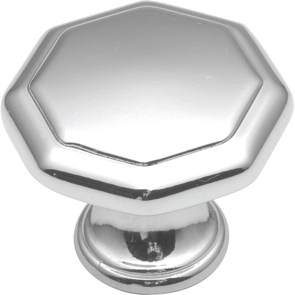 Hickory Hardware Conquest 1-1/8 in. Polished Chrome Cabinet Knob