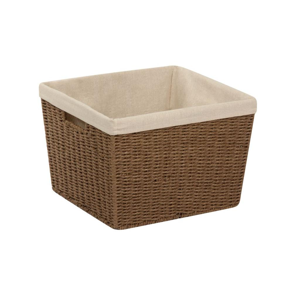 Parchment Cord 15 in. W x 10 in. H Basket with