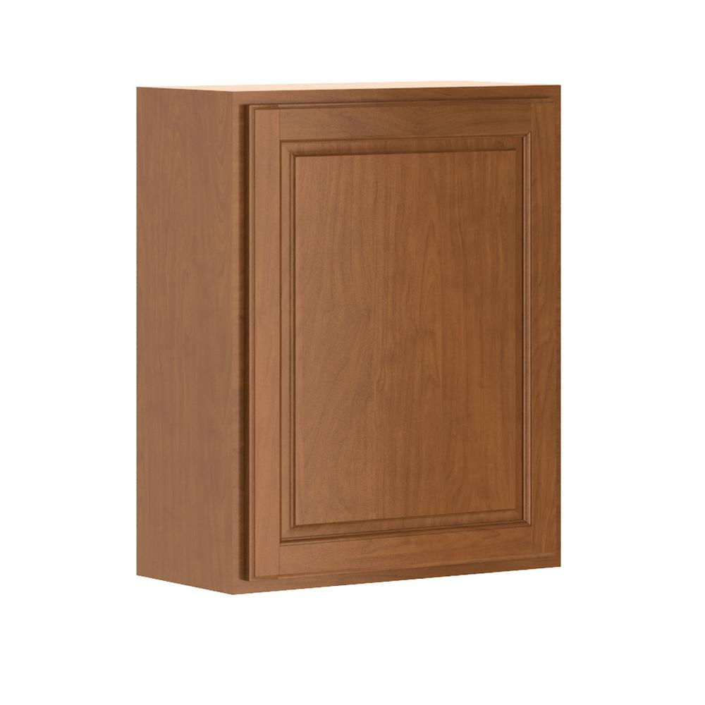 Hampton Bay Assembled 24x30x12 in. Madison Wall Cabinet in Cognac-W2430-MCOG -