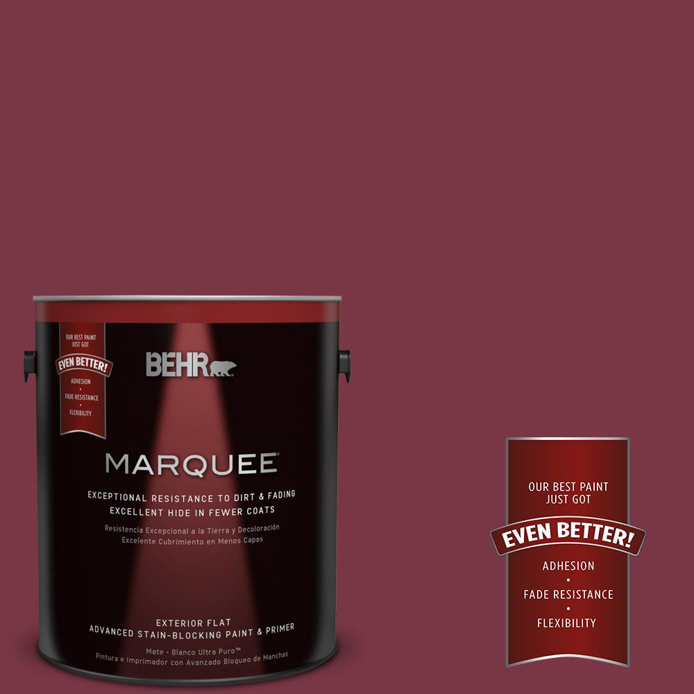 BEHR MARQUEE 1-gal. #S-H-110 Wine Tasting Flat Exterior Paint, Antique Ruby