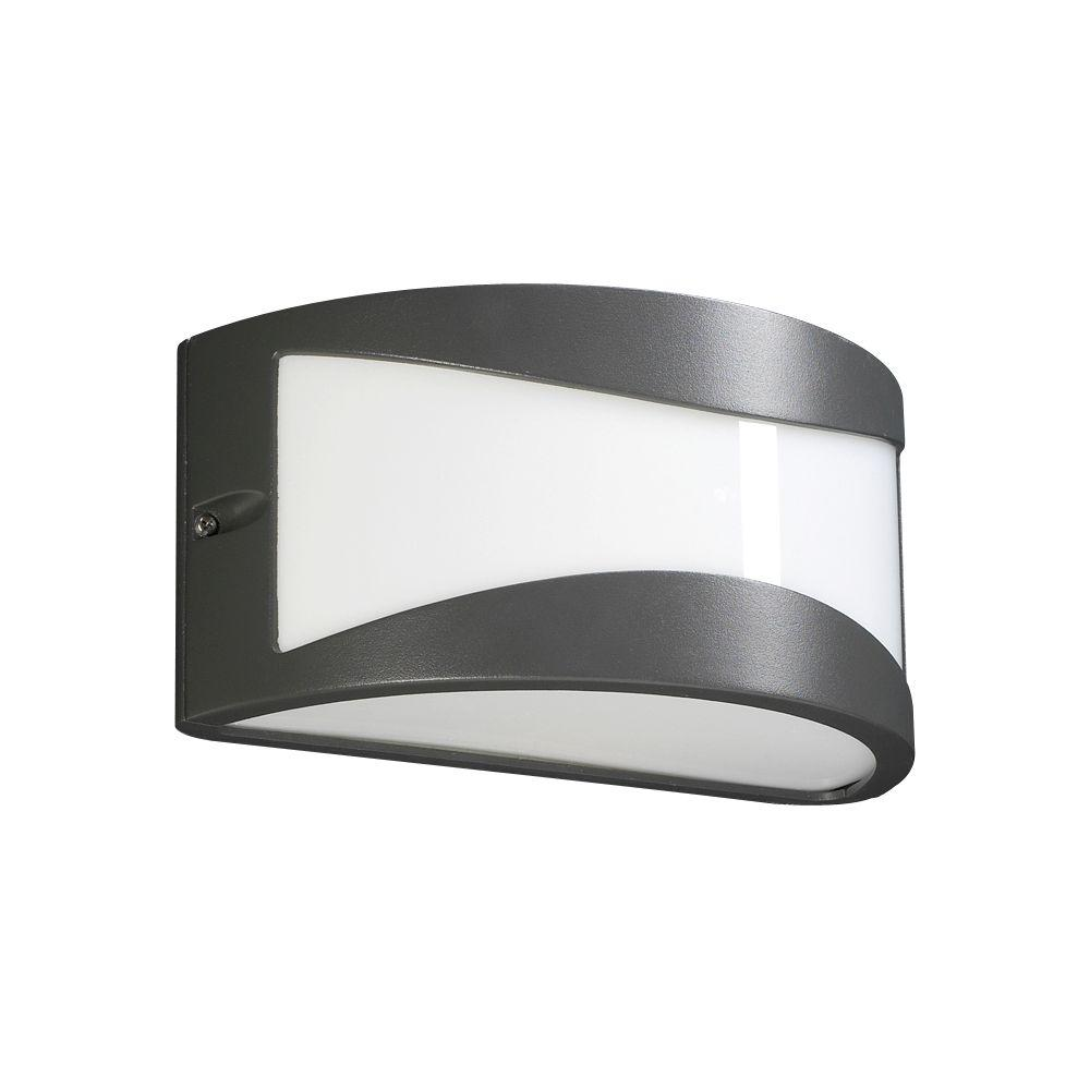 PLC Lighting 1-Light Outdoor Bronze Wall Sconce with Matte Opal Glass