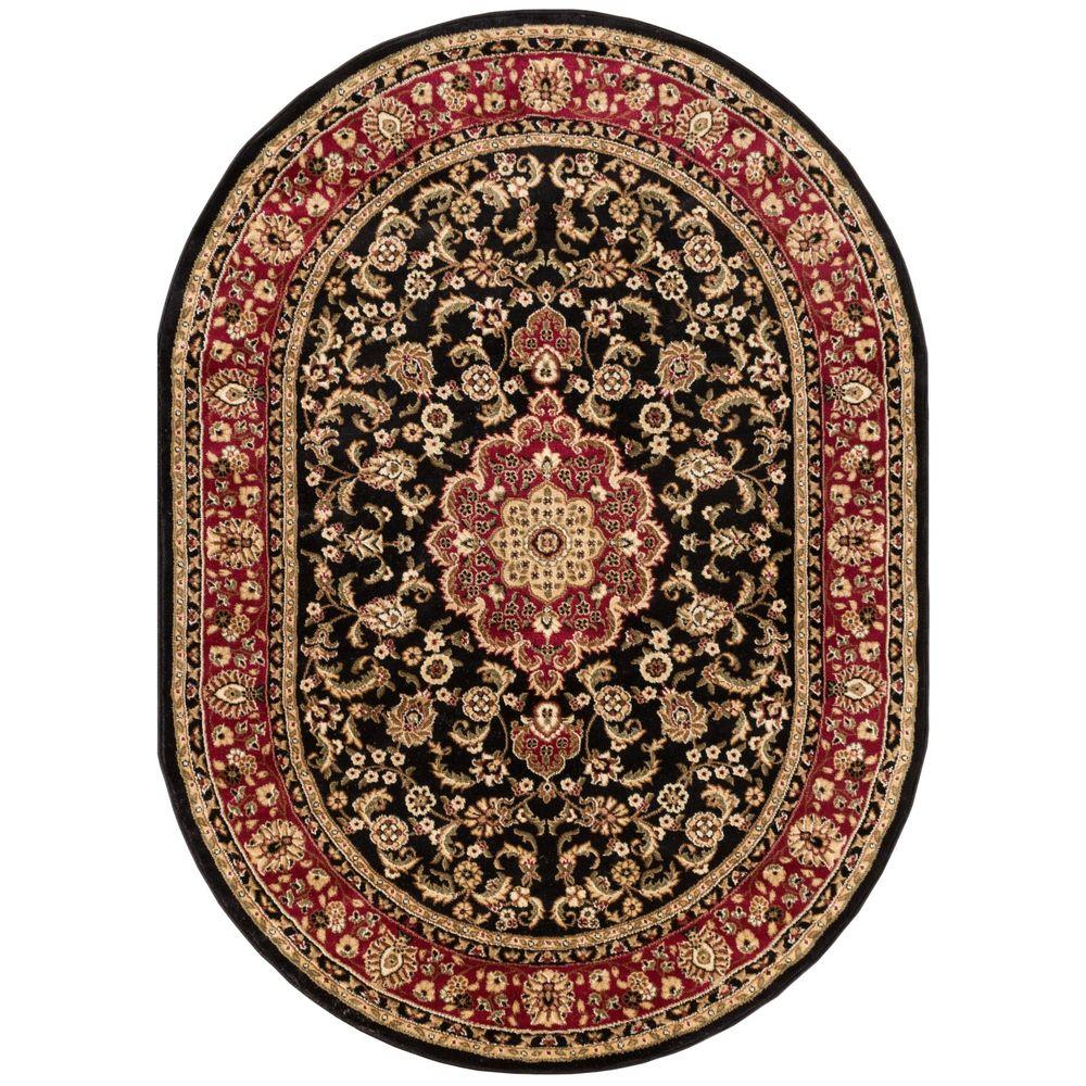 Well Woven Barclay Medallion Kashan Black 5 ft. 3 in. x