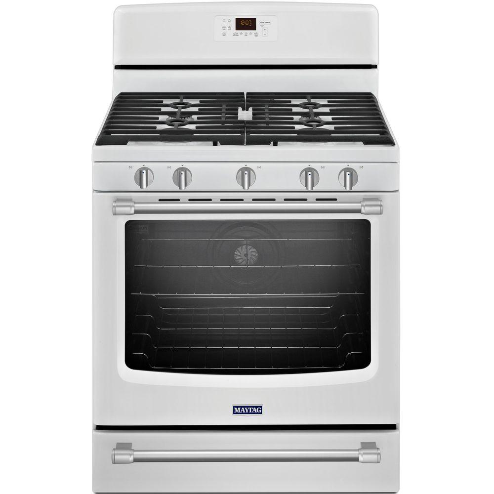 Maytag AquaLift 5.8 cu. ft. Gas Range with Self-Cleaning Convection Oven
