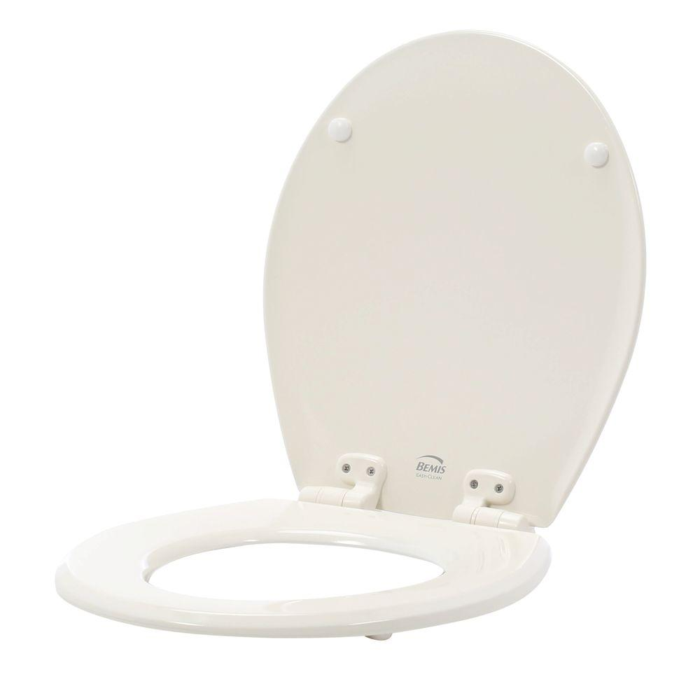 BEMIS Slow Close Lift-Off Flip Cap Round Closed Front Toilet Seat in Biscuit/Linen