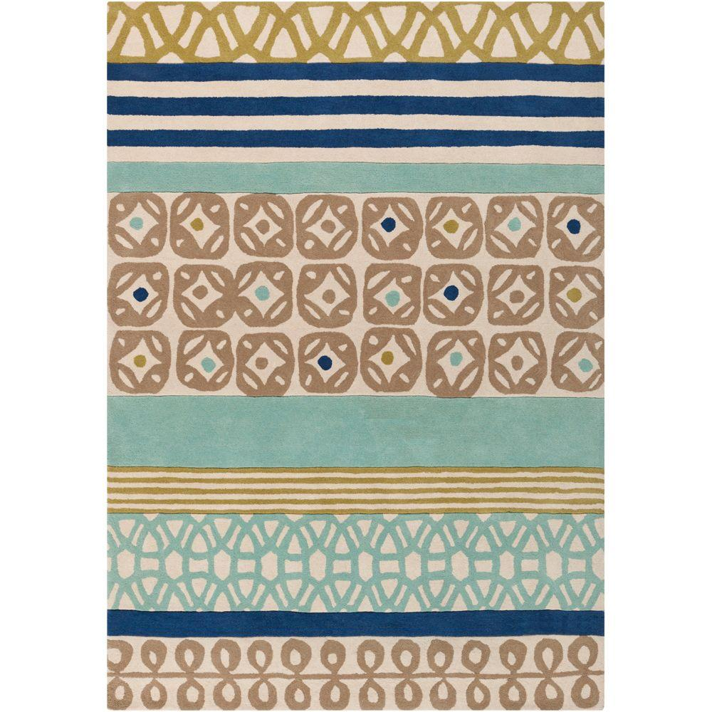 Scion Foggy Blue 8 ft. x 11 ft. Contemporary Area Rug