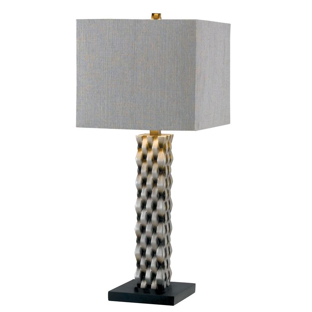 Kenroy Home Element 30 in. Aged Silver Table Lamp-DISCONTINUED