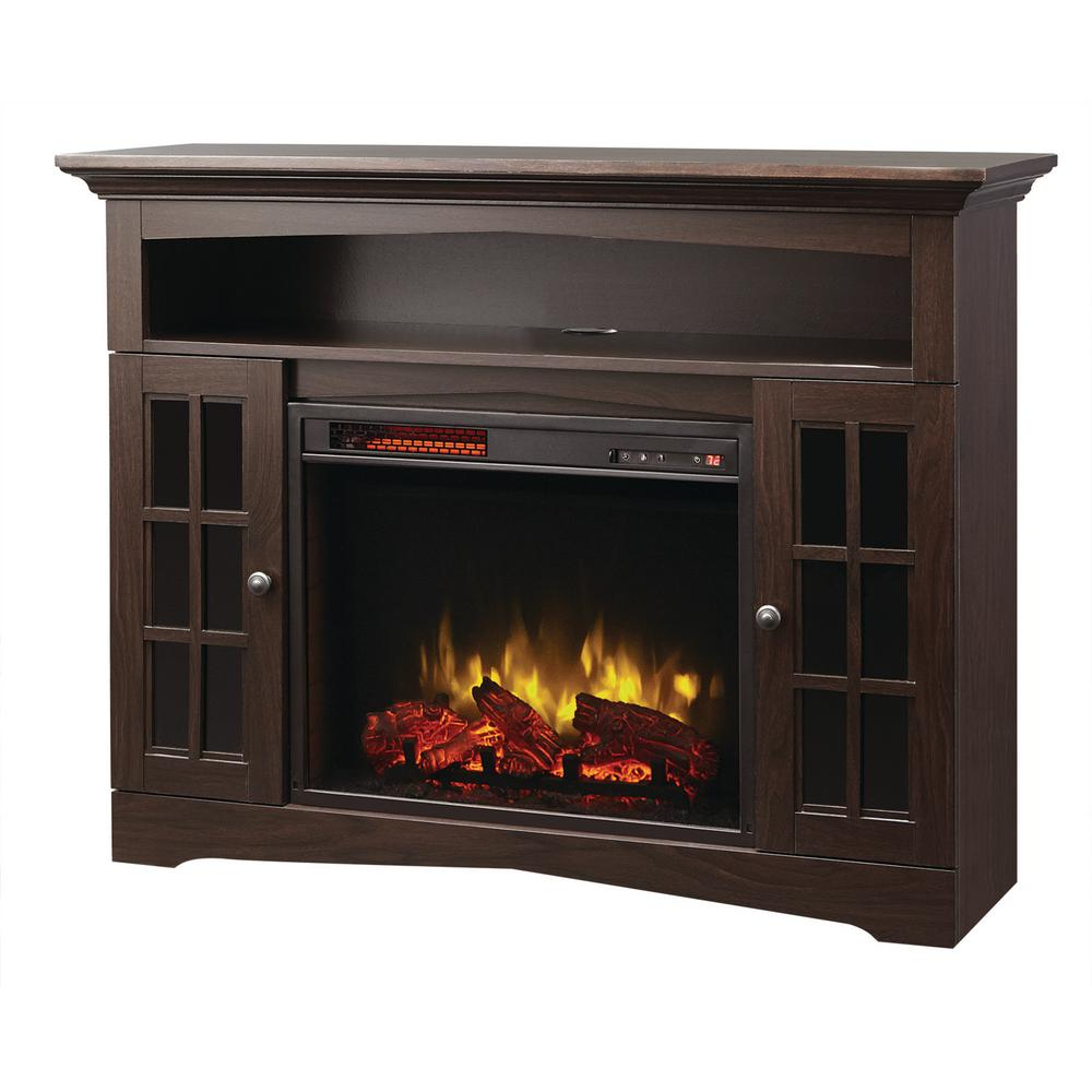 Home Decorators Collection Avondale Grove 48 In Media Console Infrared Electric Fireplace In