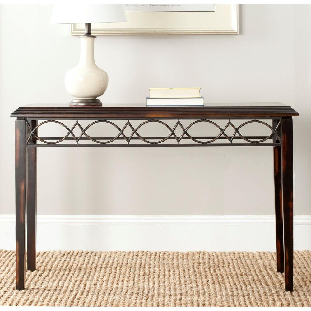 Jacquelyn Dark Brown Console Table