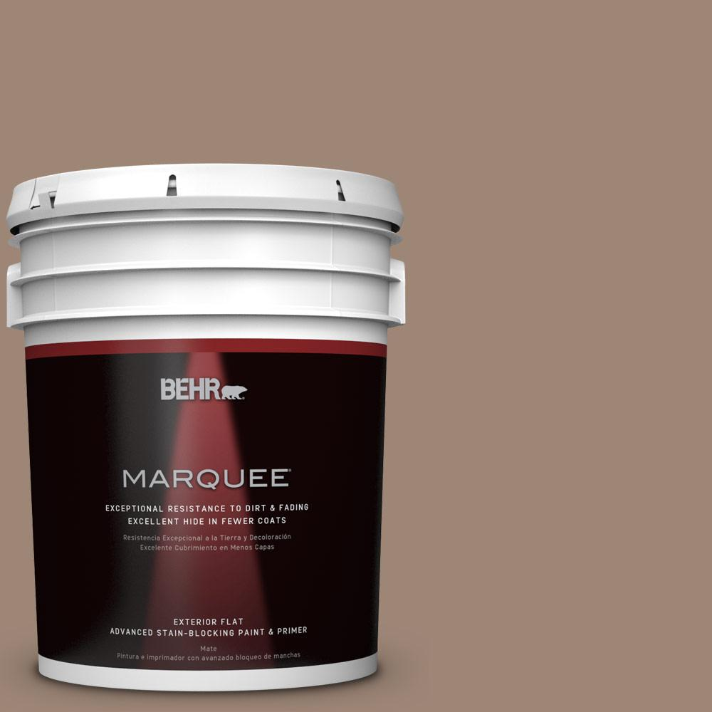 BEHR MARQUEE 5-gal. #PPU5-16 Earthnut Flat Exterior Paint