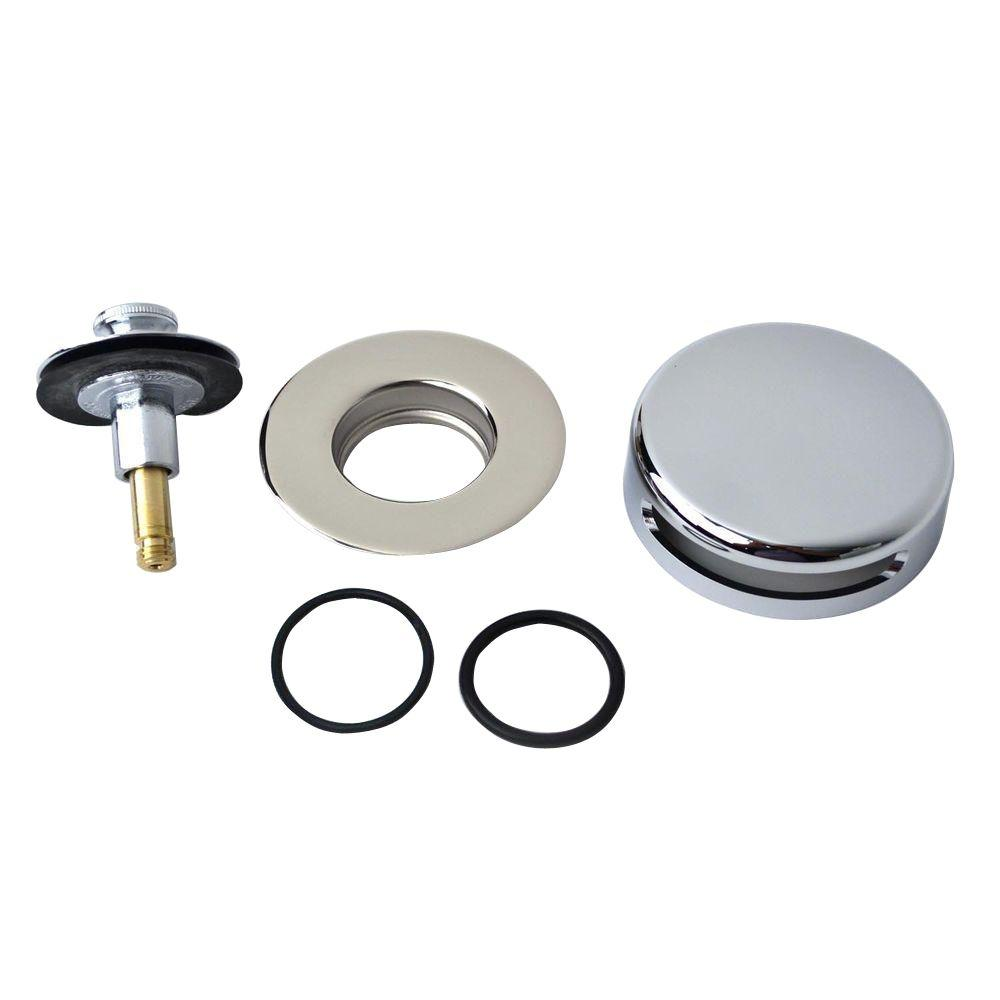 "Watco QuickTrim Lift and Turn Bathtub Stopper with Innovator Overflow and Two ""O"" Rings Trim Kit in Chrome Plated"
