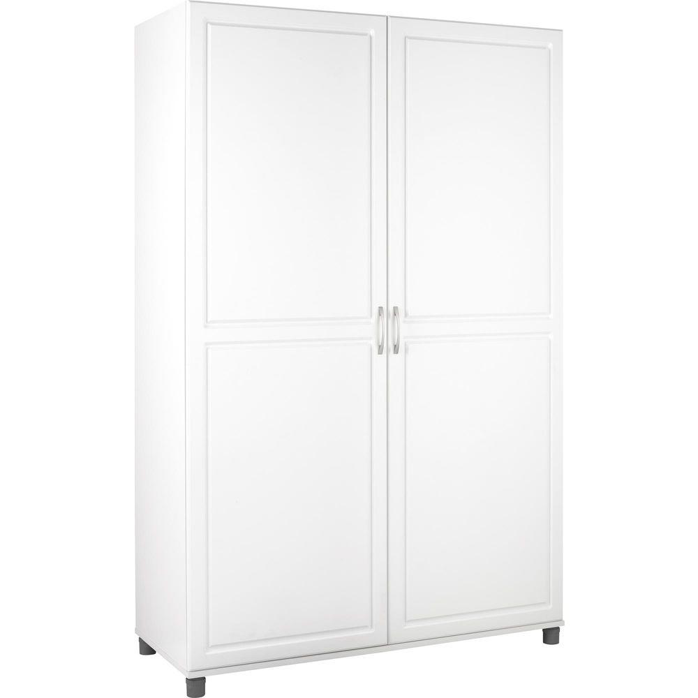 SystemBuild Kendall White Storage Cabinet-7361401PCOM