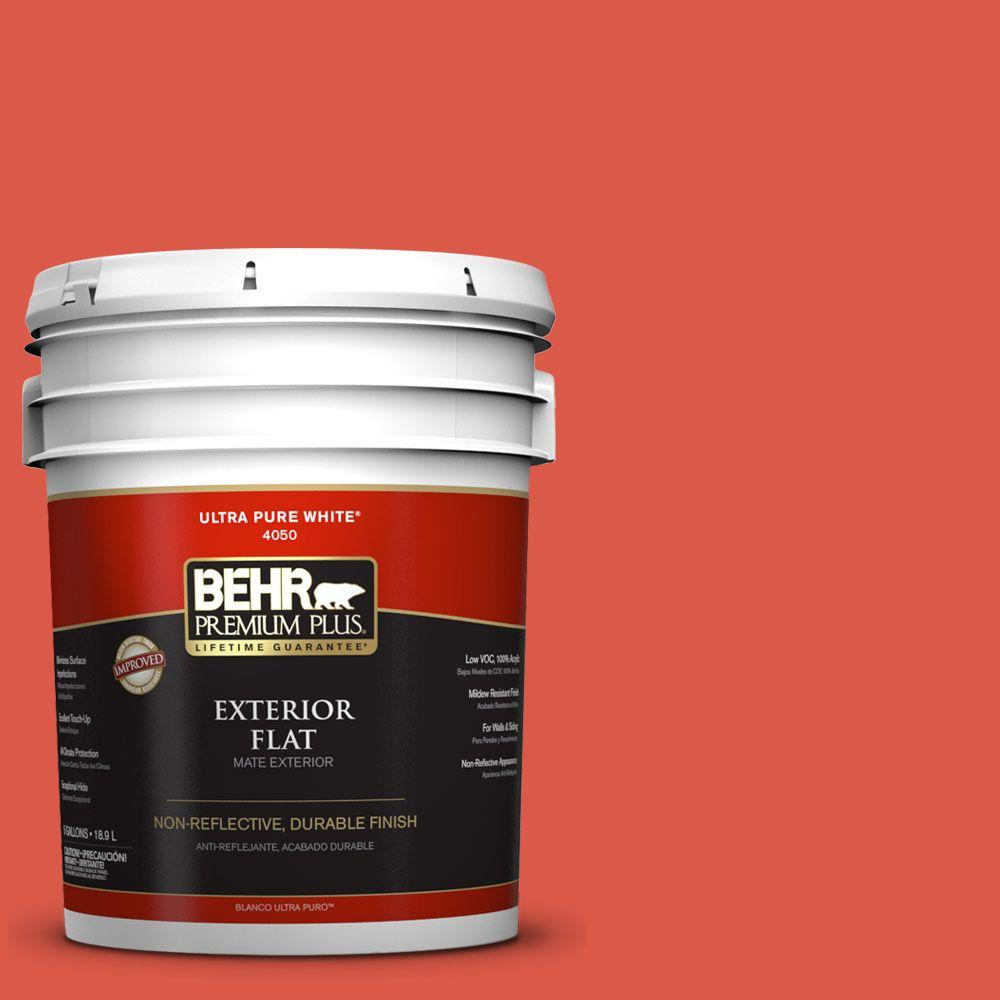 5-gal. #T12-7 Red Wire Flat Exterior Paint