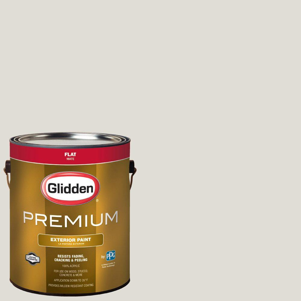 Glidden Premium 1-gal. #HDGWN48 Toasted White Flat Latex Exterior