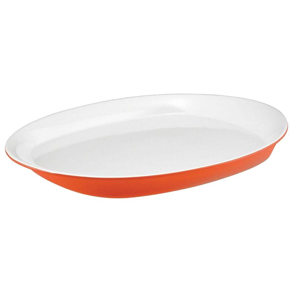 Rachael Ray Round and Square 14 in. Round Platter in Orange