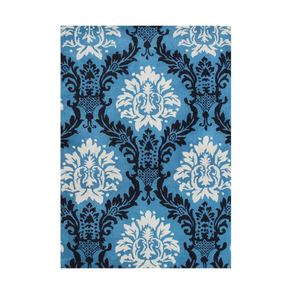 French Blue 8 ft. x 10 ft. Handmade Area Rug