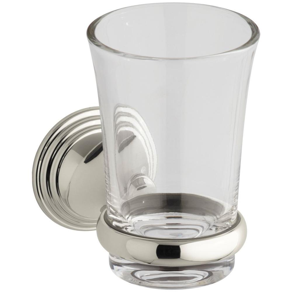 Devonshire 5.125 in. Tumbler and Holder in Vibrant Polished Nickel