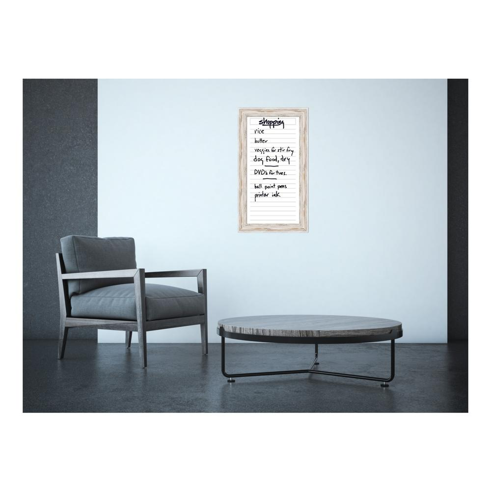 List Panel 16 in. W x 28 in. H Framed Glass Dry Erase Board