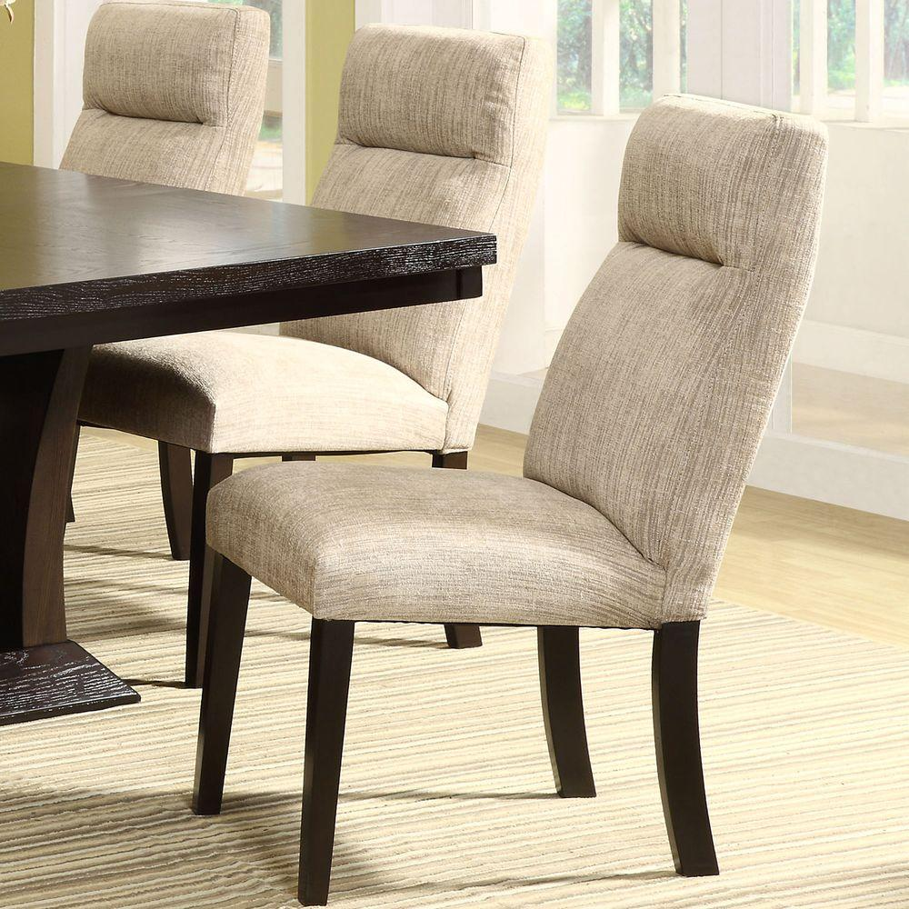 Powell Beige Chenille Dining Chair (Set of 2)