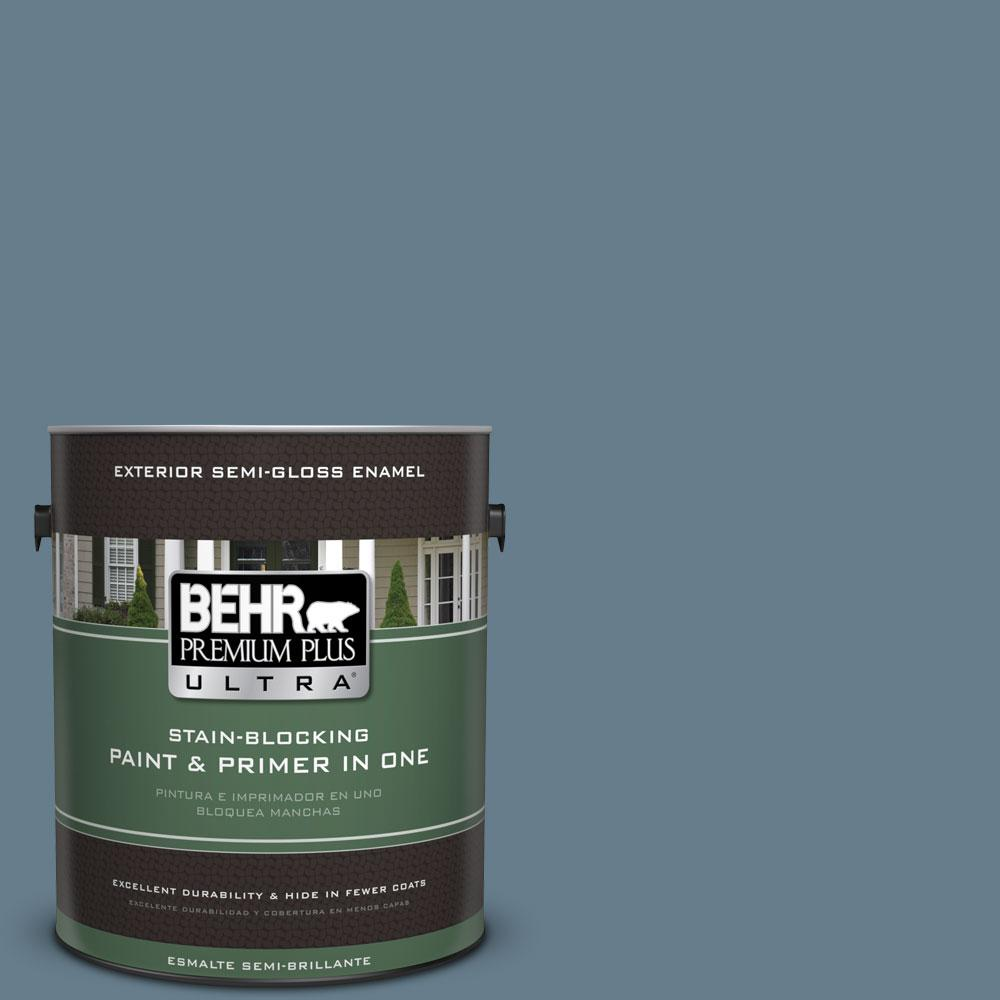 BEHR Premium Plus Ultra 1-gal. #ECC-31-1 Windy Seas Semi-Gloss Enamel Exterior