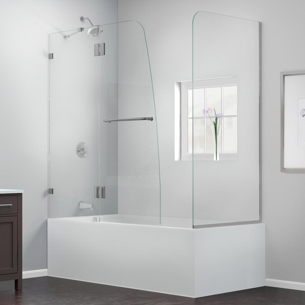 DreamLine AquaLux 56 to 60 in. x 58 in. Semi-Framed Hinged