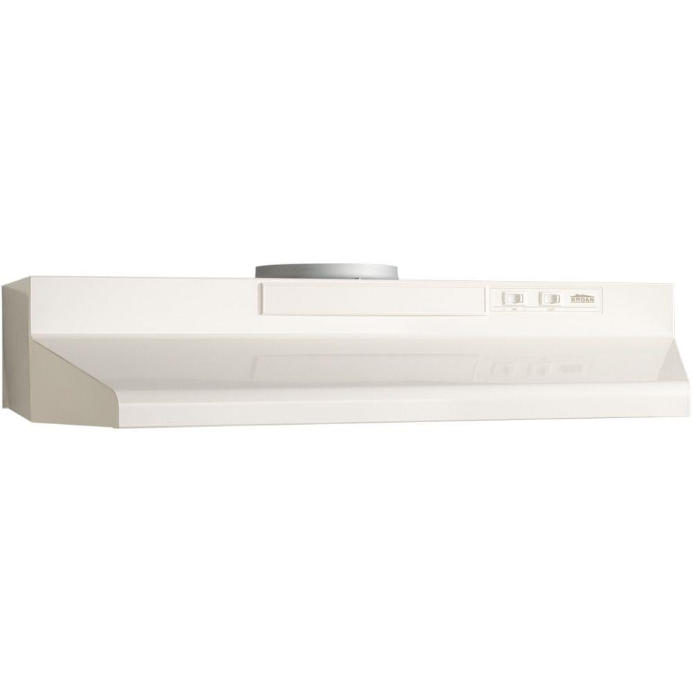 Broan F40000 Series 24 in. Convertible Range Hood in Bisque