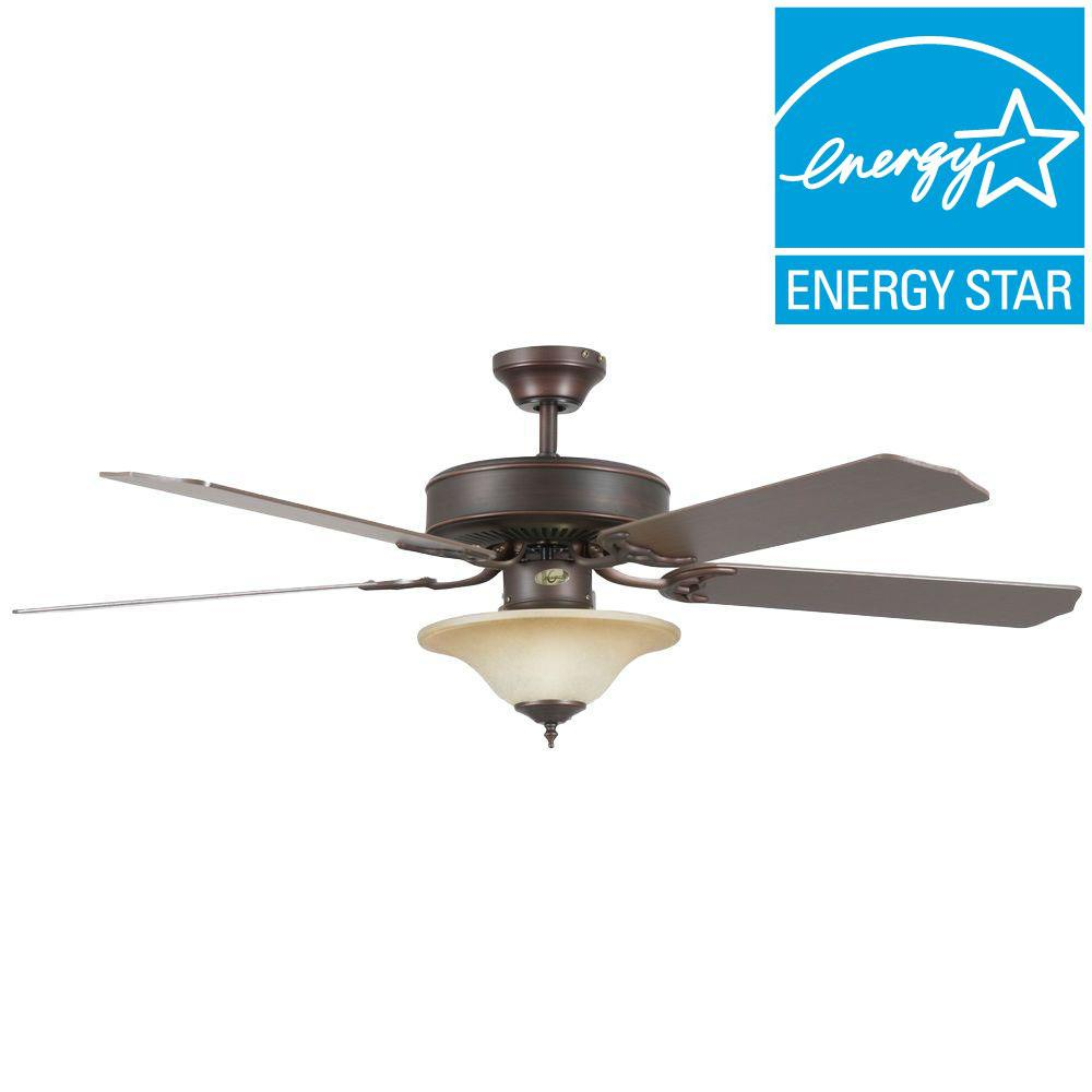 Concord Heritage Square 52 in. Oil-Rubbed Bronze Ceiling Fan-52HES5EORB-ES - The