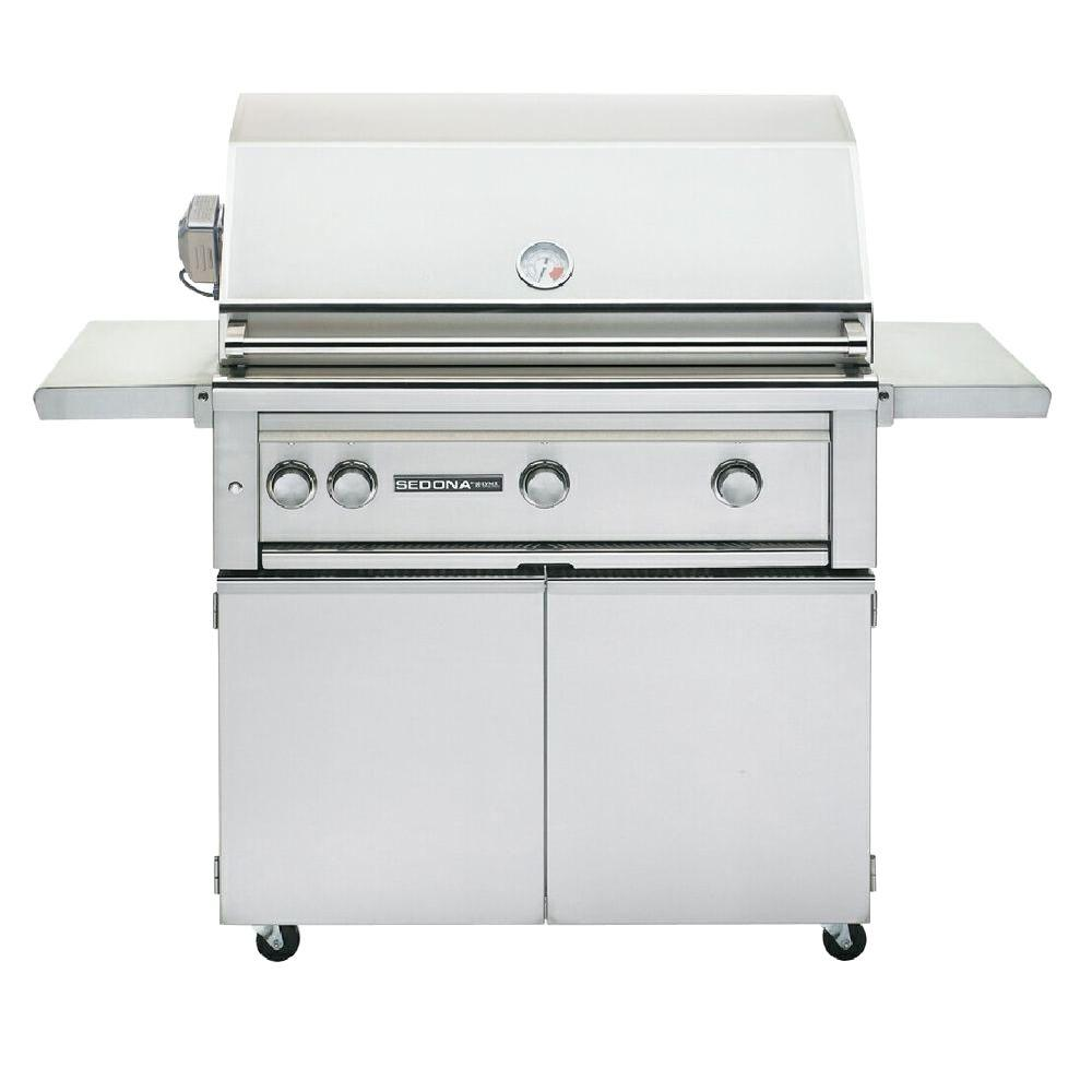 Sedona by Lynx 3-Burner Stainless Steel Propane Gas Grill with Rotisserie