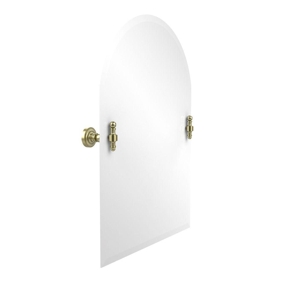 Allied Brass Retro-Dot Collection 21 in. x 29 in. Frameless Arched