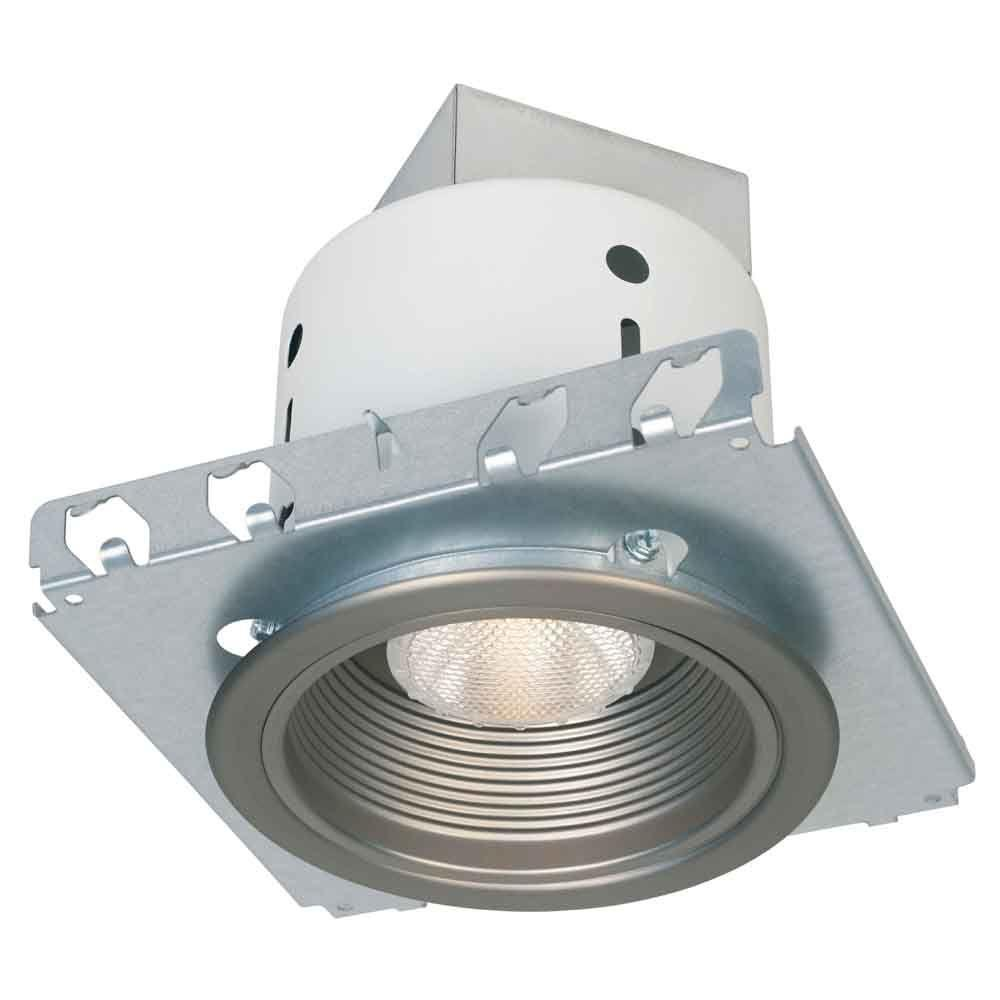 Commercial Electric 5 in. Brushed Nickel Recessed Lighting Kit