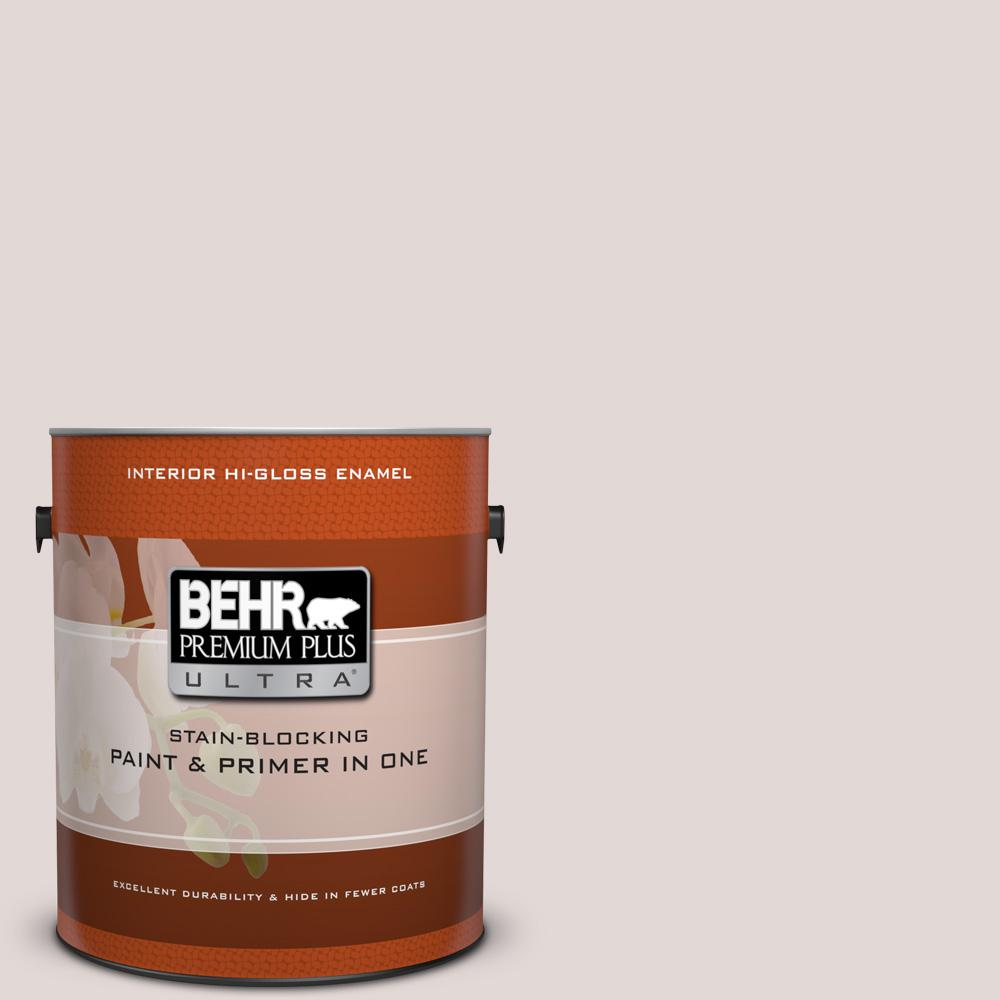BEHR Premium Plus Ultra 1 gal. #120E-1 Dreamy White Hi-Gloss Enamel Interior Paint