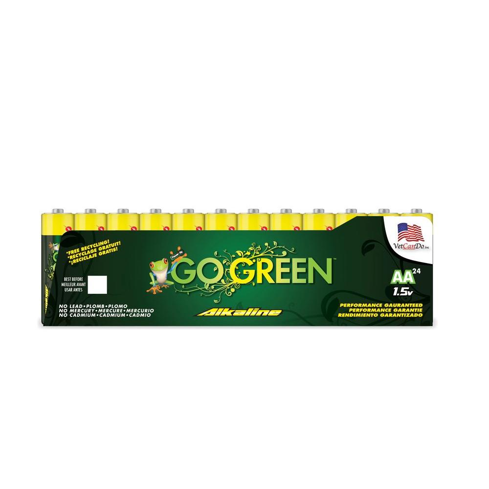 Power By Go Green AA Alkaline Battery (24 per Pack)