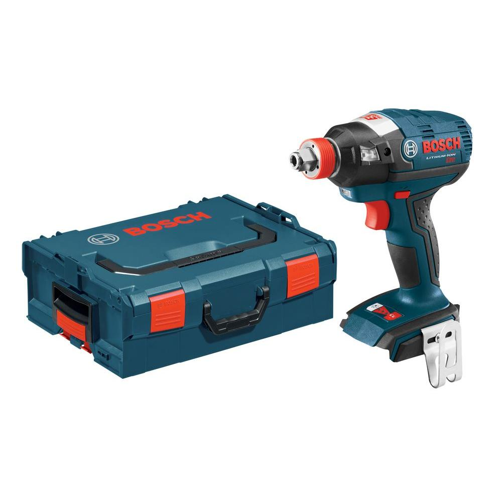 Bosch 18 Volt Lithium-Ion Cordless 1/4 in. Hex and 1/2 in. Square Drive EC Brushless Socket-Ready Impact Driver with Hard Case