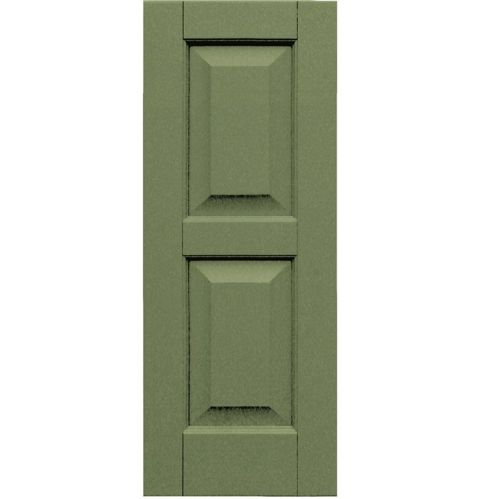 Winworks Wood Composite 12 in. x 31 in. Raised Panel Shutters Pair #660 Weathered Shingle