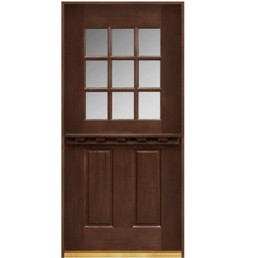 Main door 32 in x 80 in dutch door collection 9 lite for Main front door
