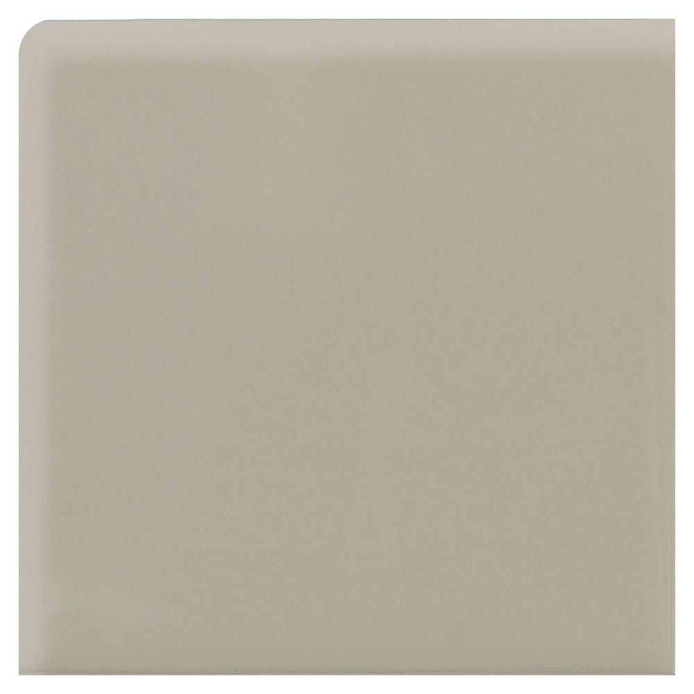 Daltile Modern Dimensions Matte Architectural Gray 4-1/4 in. x 4-1/4 in. Ceramic Bullnose Wall Tile