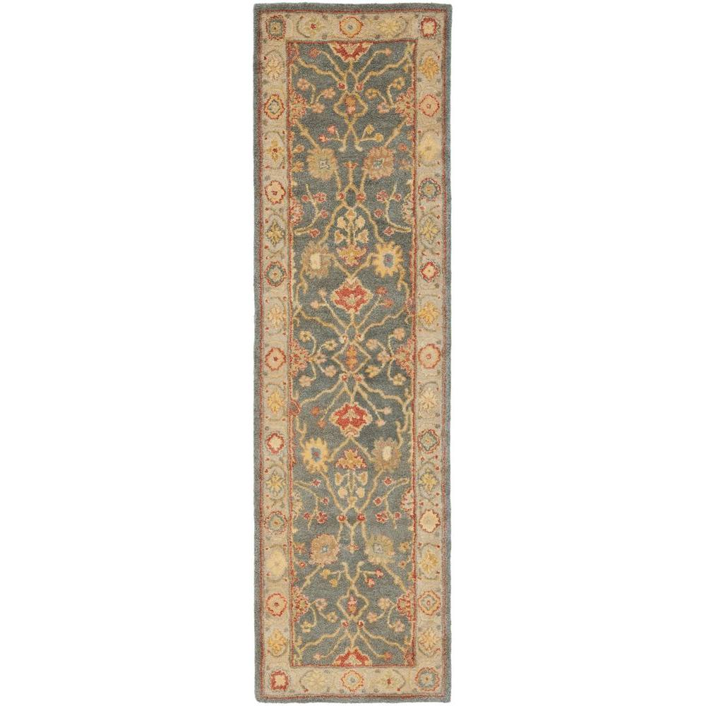 Safavieh Antiquity Blue/Ivory 2 ft. 3 in. x 10 ft. Runner-AT314A-210
