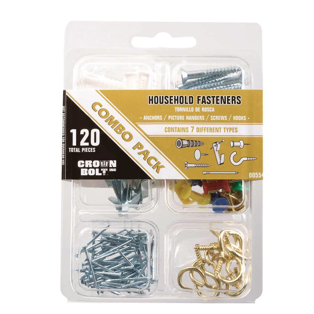 Everbilt (120-Pieces) Household Combo Pack-00554 - The Home Depot