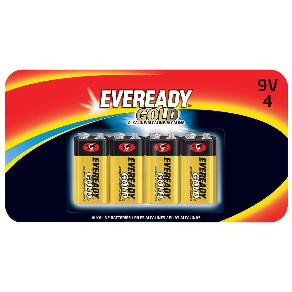 null Alkaline 9-Volt Eveready Gold (4-Pack)