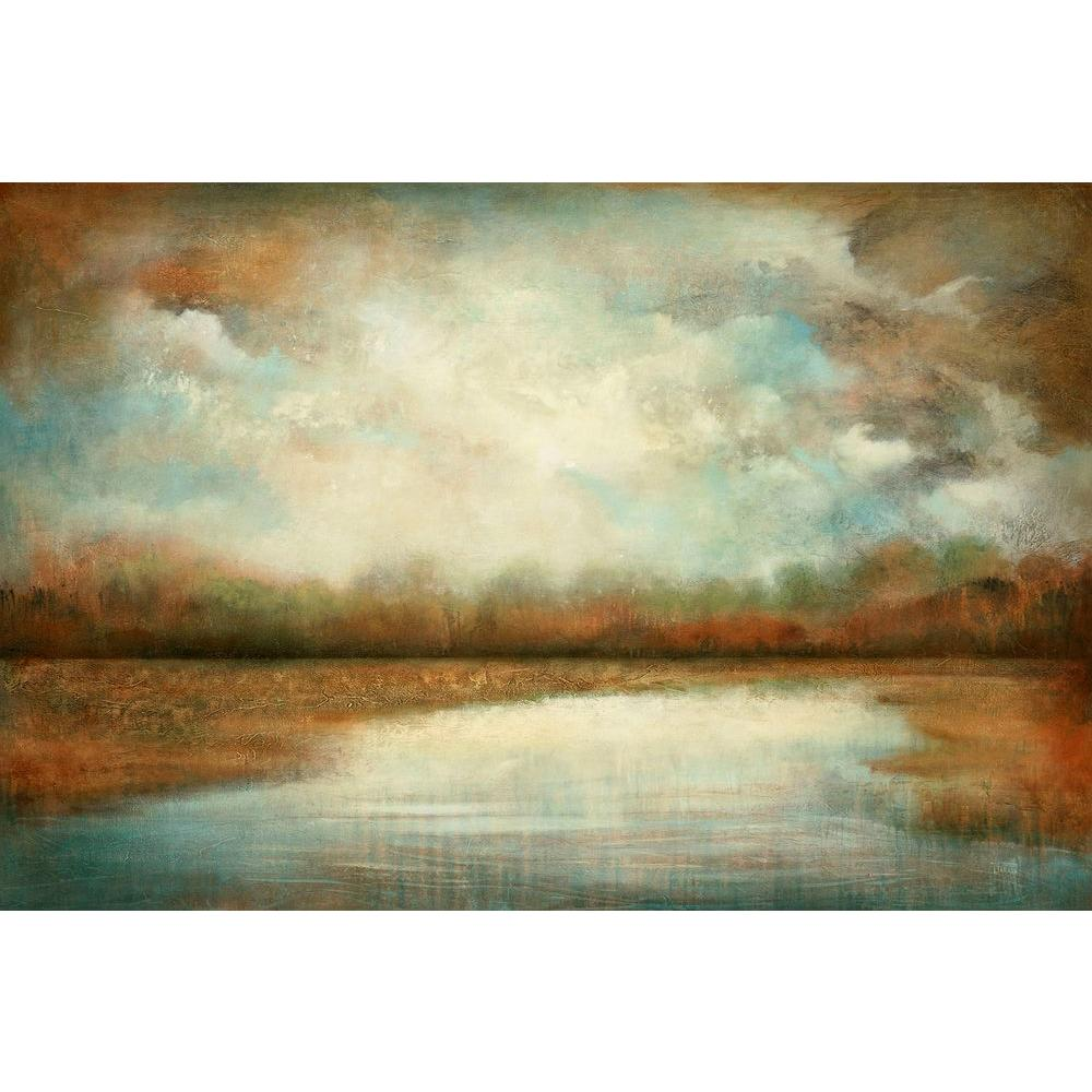 "Lake Wall Art home decorators collection 40 in. x 60 in. ""autumn lake""jason"