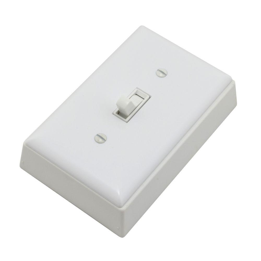 15 Amp Non Metallic Outlet Box with Switch - White