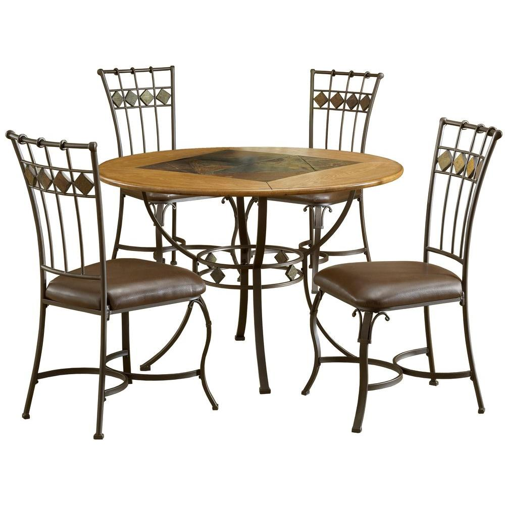 Hillsdale Furniture Lakeview 45 in. Dia 5-Piece Round Brown Copper Dining